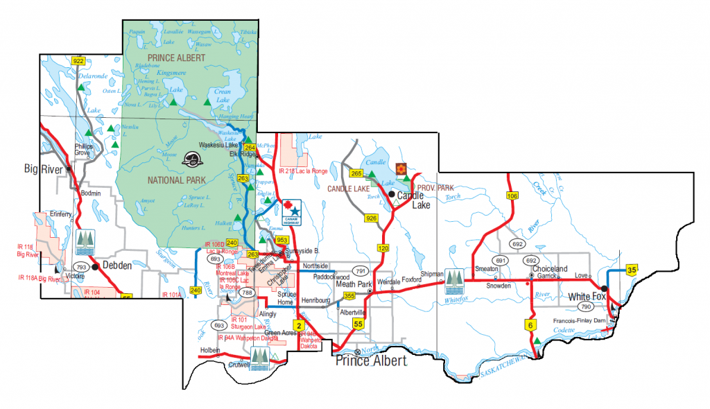 Saskatchewan Rivers Constituency Map