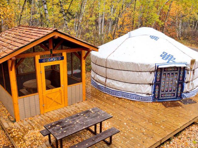Mongolian-style yurt